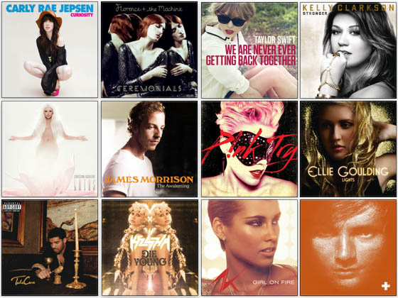 Some of my favorite singles and albums of 2012