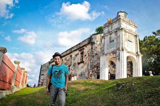 Here's me at the Ruins of St. Paul Church!