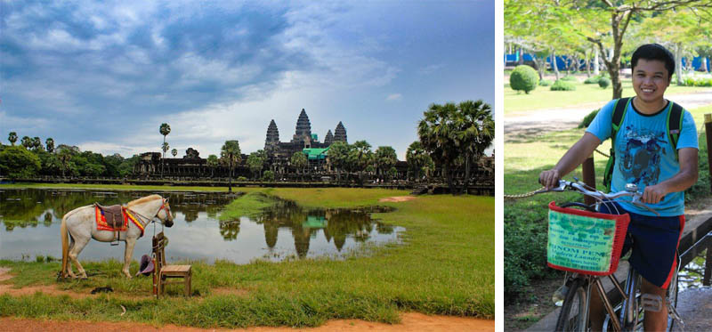 Biking to Angkor Wat