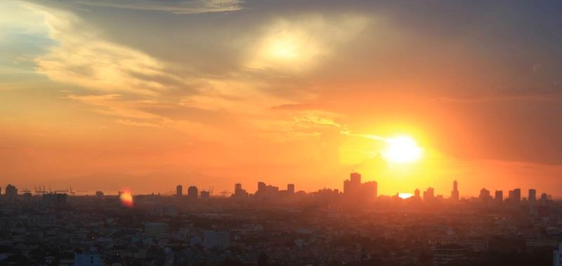 Manila sunset from my new bedroom